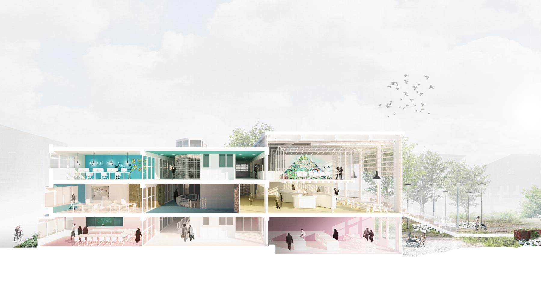 BETA office for architecture and the city Amsterdam Ru Pare Community Center impression section