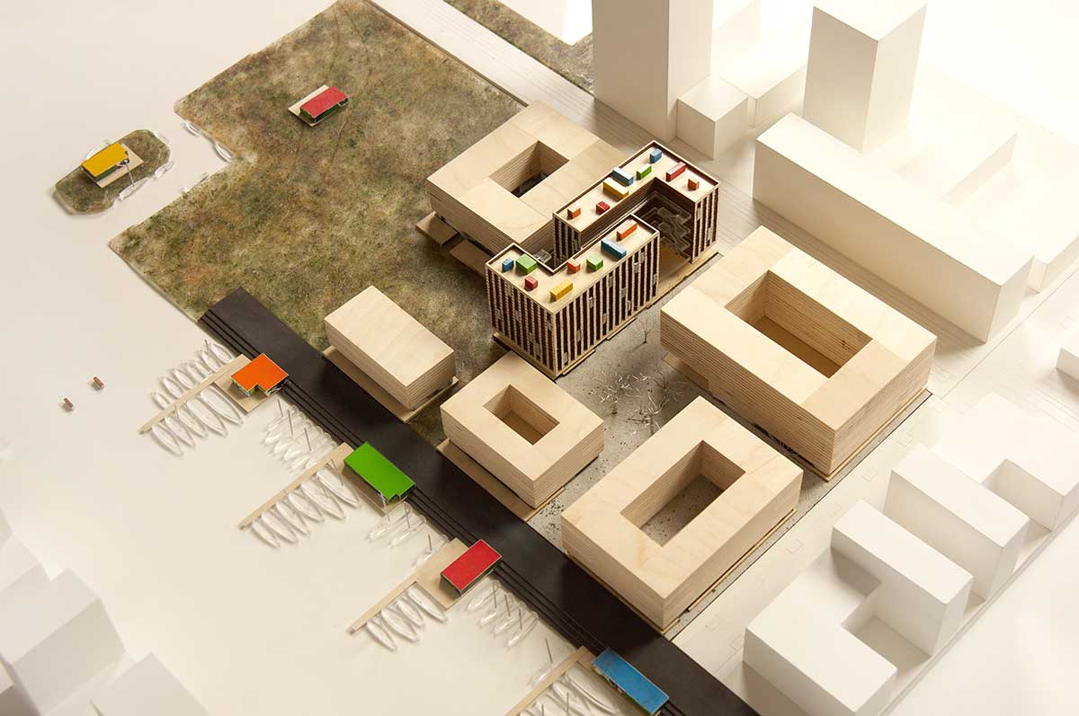 BETA NDSM Europan Ymere competition first prize model photo