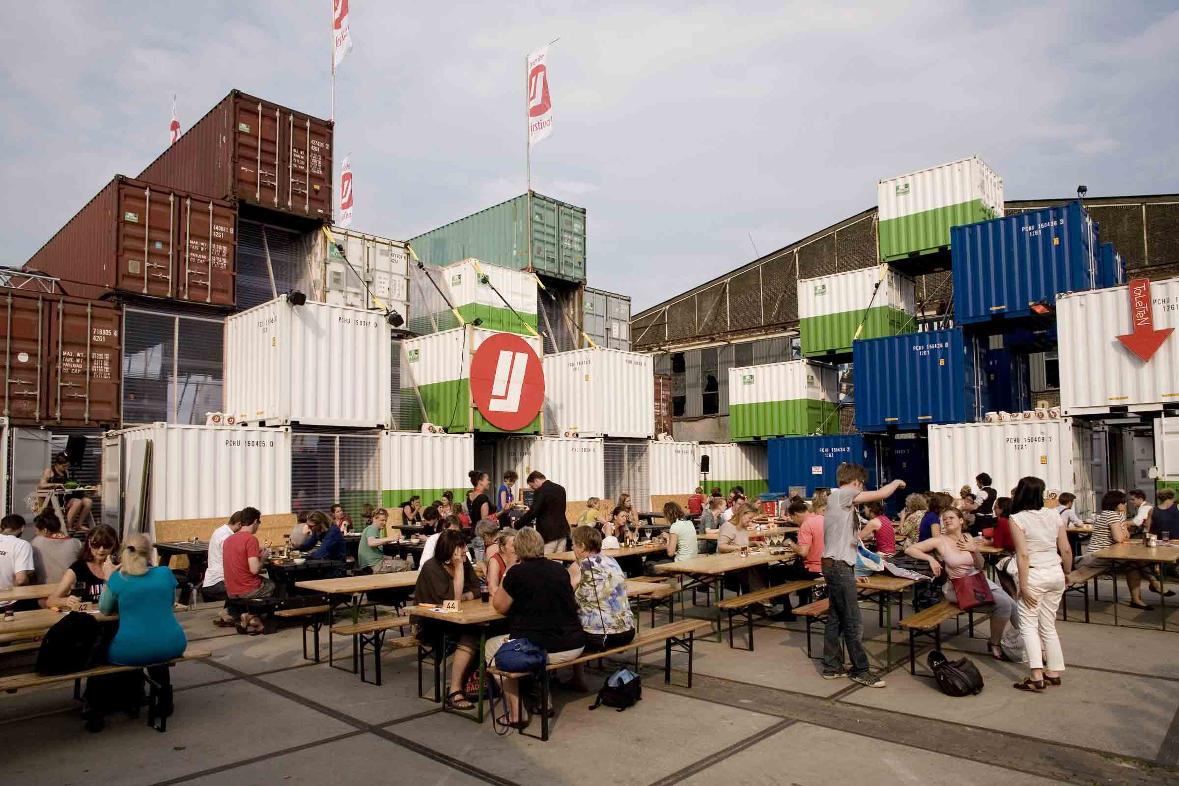 BETA office for architecture and the city Amsterdam NDSM temporary shipping container city exterior