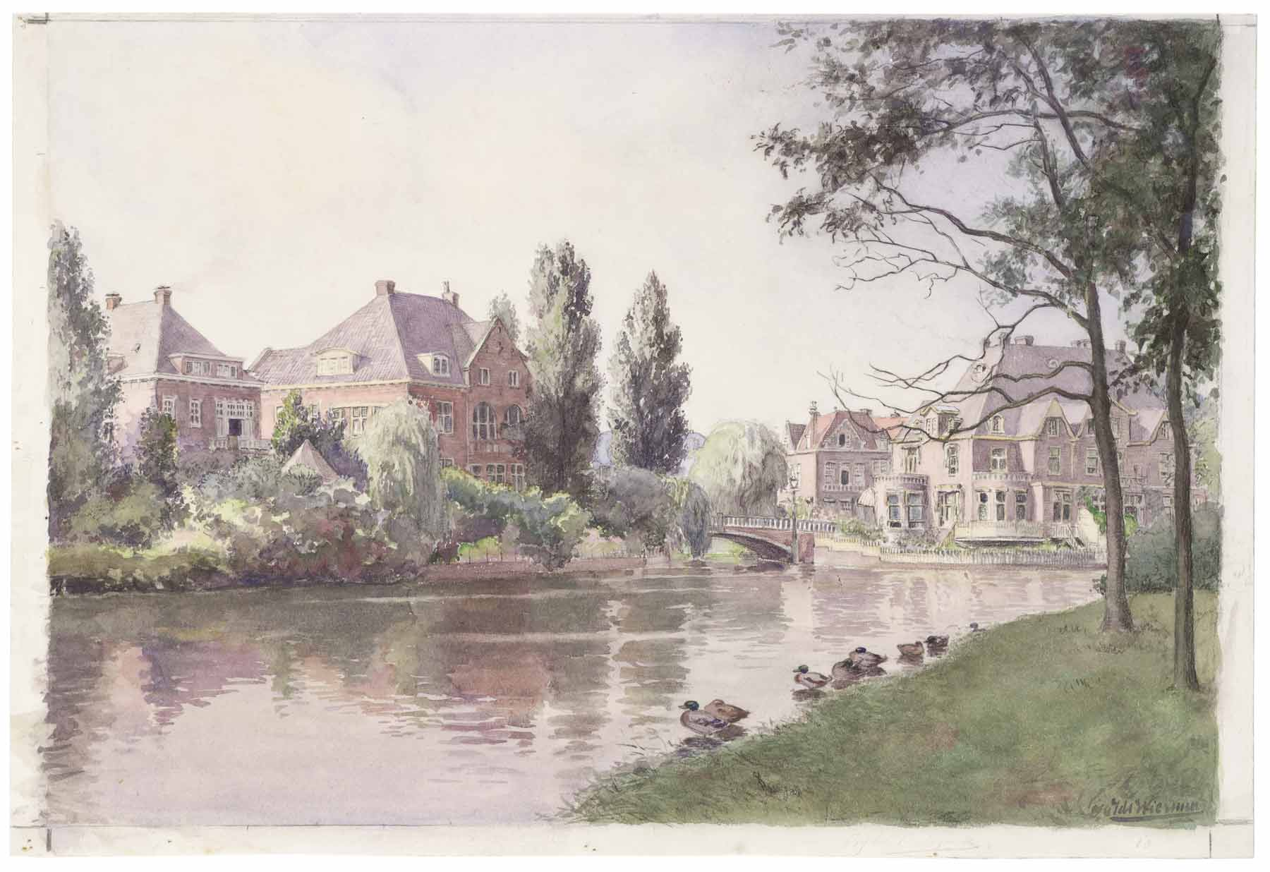 BETA office for architecture and the city Amsterdam Vondelpark watercolor
