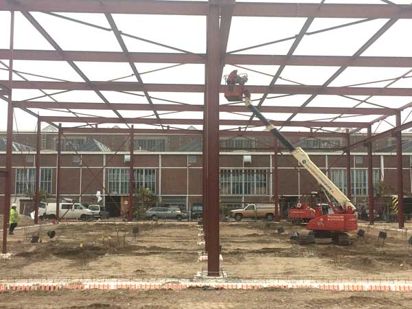 BETA office for architecture and the city Amsterdam Boat Hangar steelwork construction photo