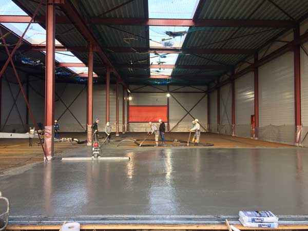 BETA office for architecture and the city Amsterdam Boat Hangar pouring concrete construction photo