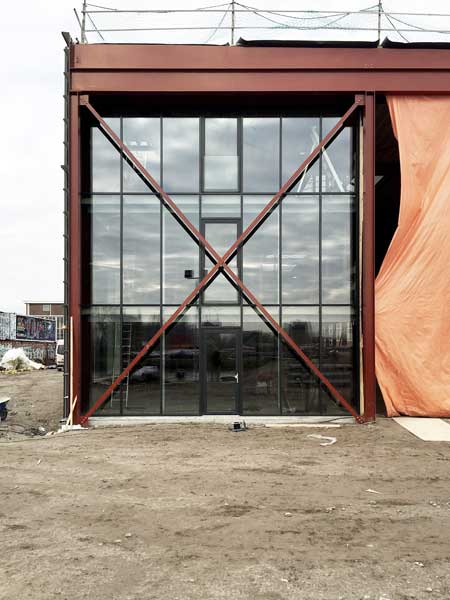 BETA office for architecture and the city Amsterdam Boat Hangar exterior construction photo