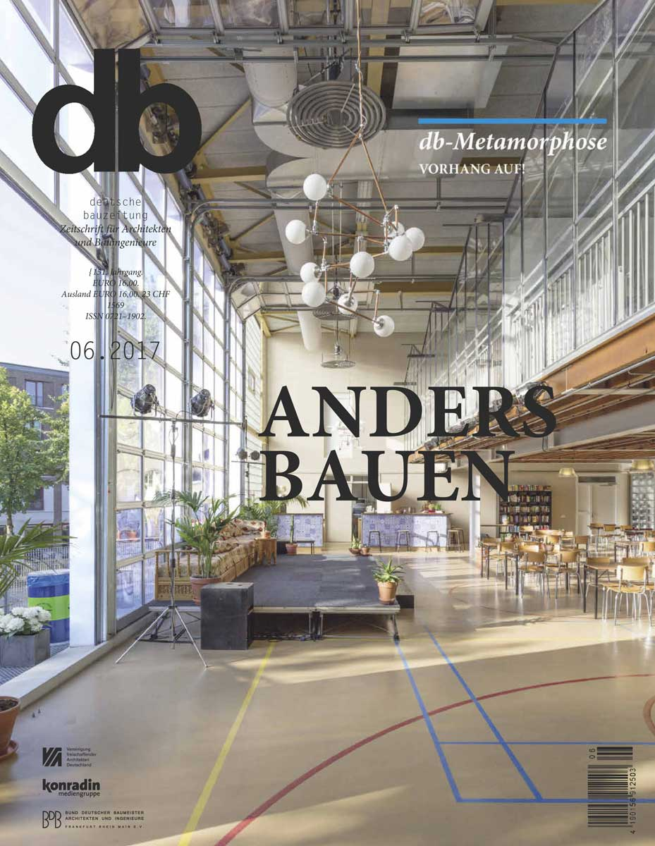 Ru Paré community features on the cover of Deutsche Bauzeitung special on 'building differently'