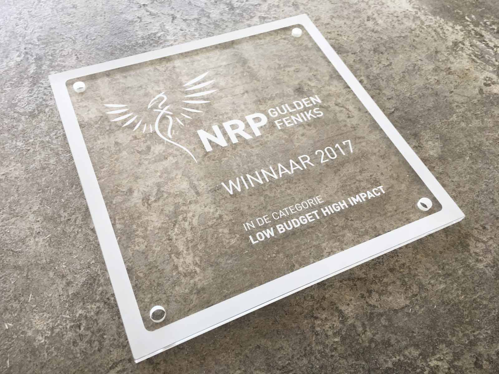Ru Paré Community wins NRP Gulden Feniks 'Low Budget High Impact'