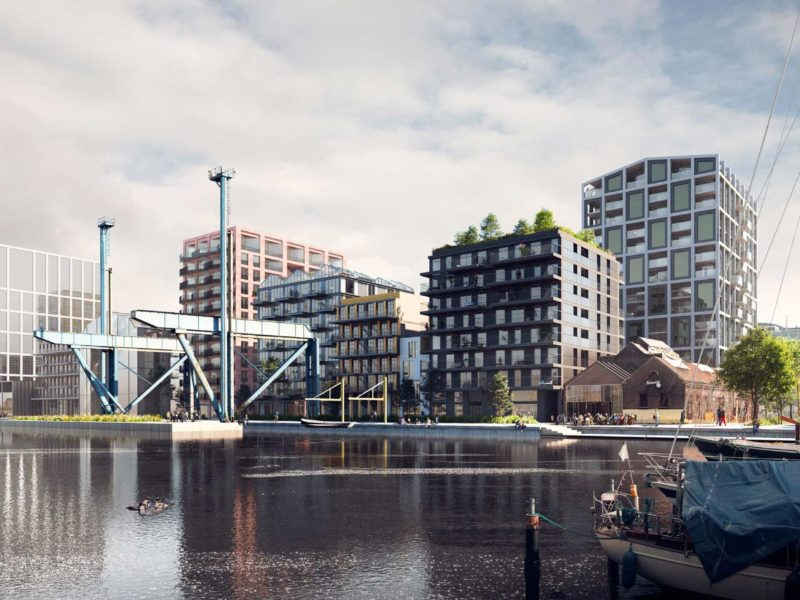 BETA office for architecture and the city Amsterdam Oostenburg render exterior by 3d studio prins