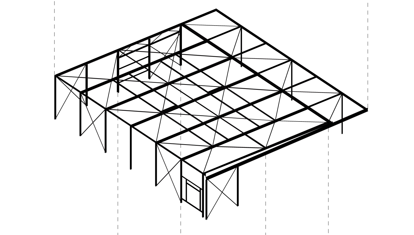 exploded isometric scheme of Boat Hangar by BETA office for architecture and the city