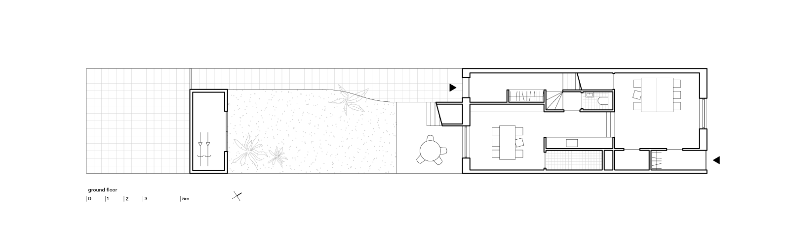 blue house by BETA ground floor plan