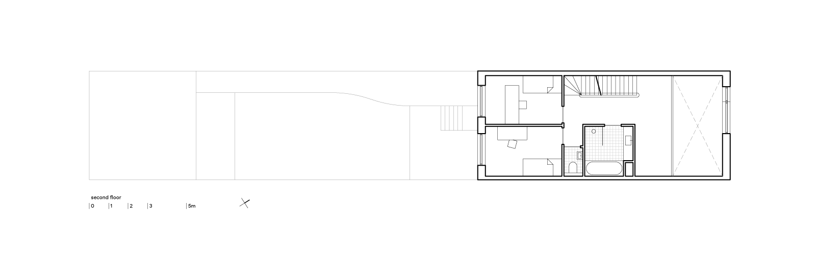 blue house by BETA second floor plan Evert Klinkenberg Auguste Gus van Oppen