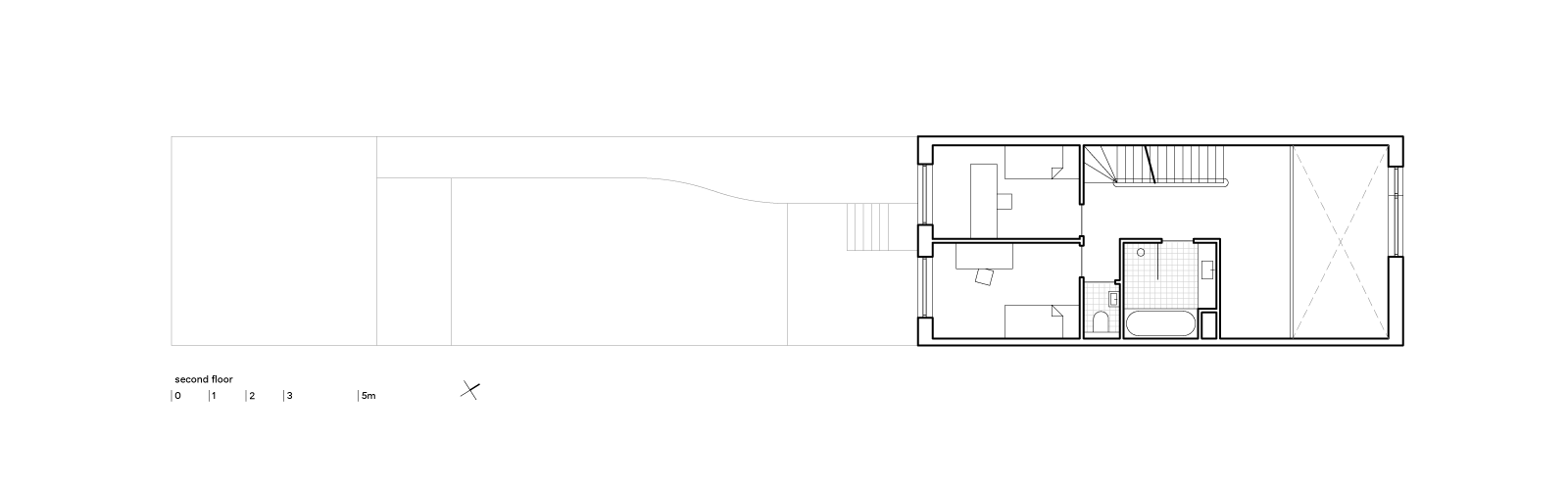 blue house by BETA second floor plan