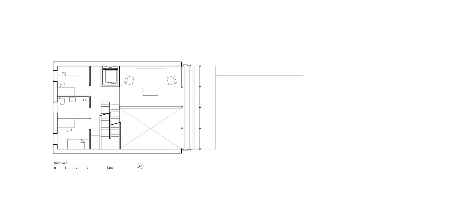 three generation house by BETA plan first floor drawing