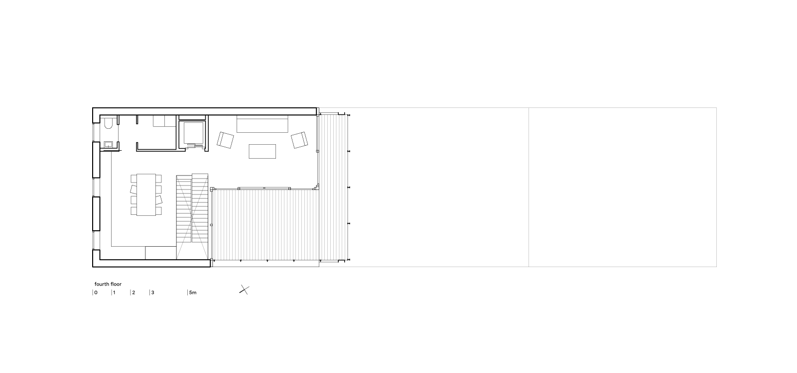 three generation house by BETA plan fourth floor drawing
