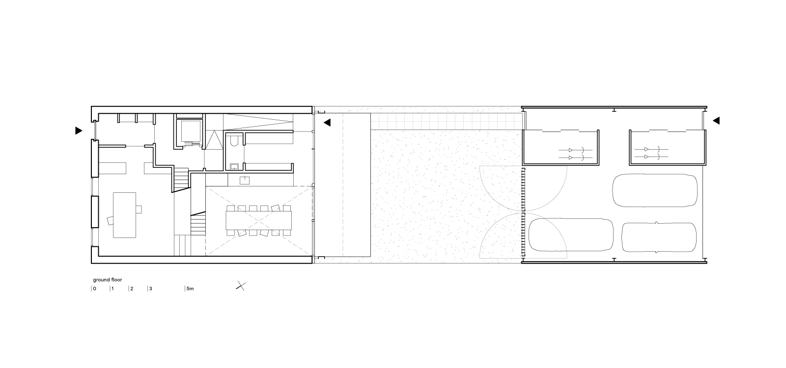 three generation house by BETA plan ground floor drawing
