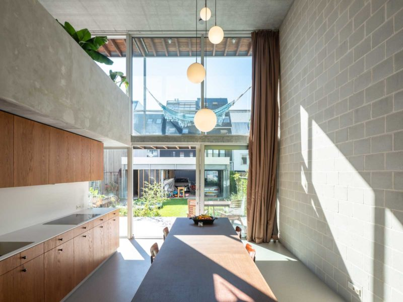 three generation house by BETA photo interior kitchen void and balconies by Ossip