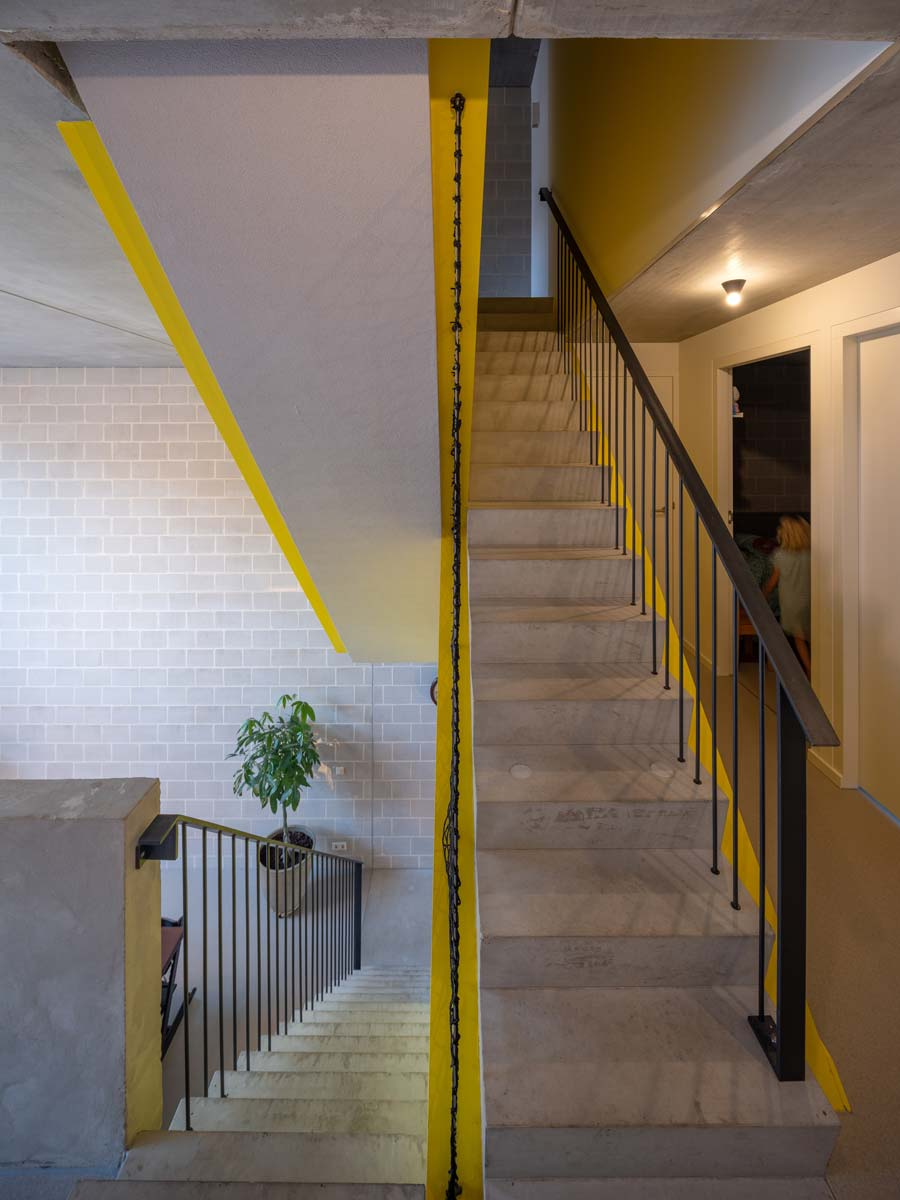 three generation house by BETA photo interior staircase with steel railings by Ossip