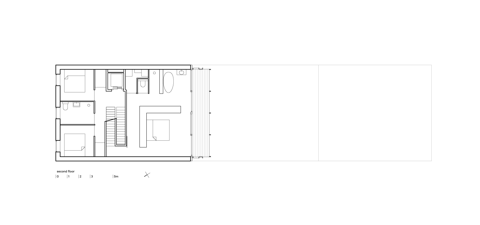 three generation house by BETA plan second floor drawing