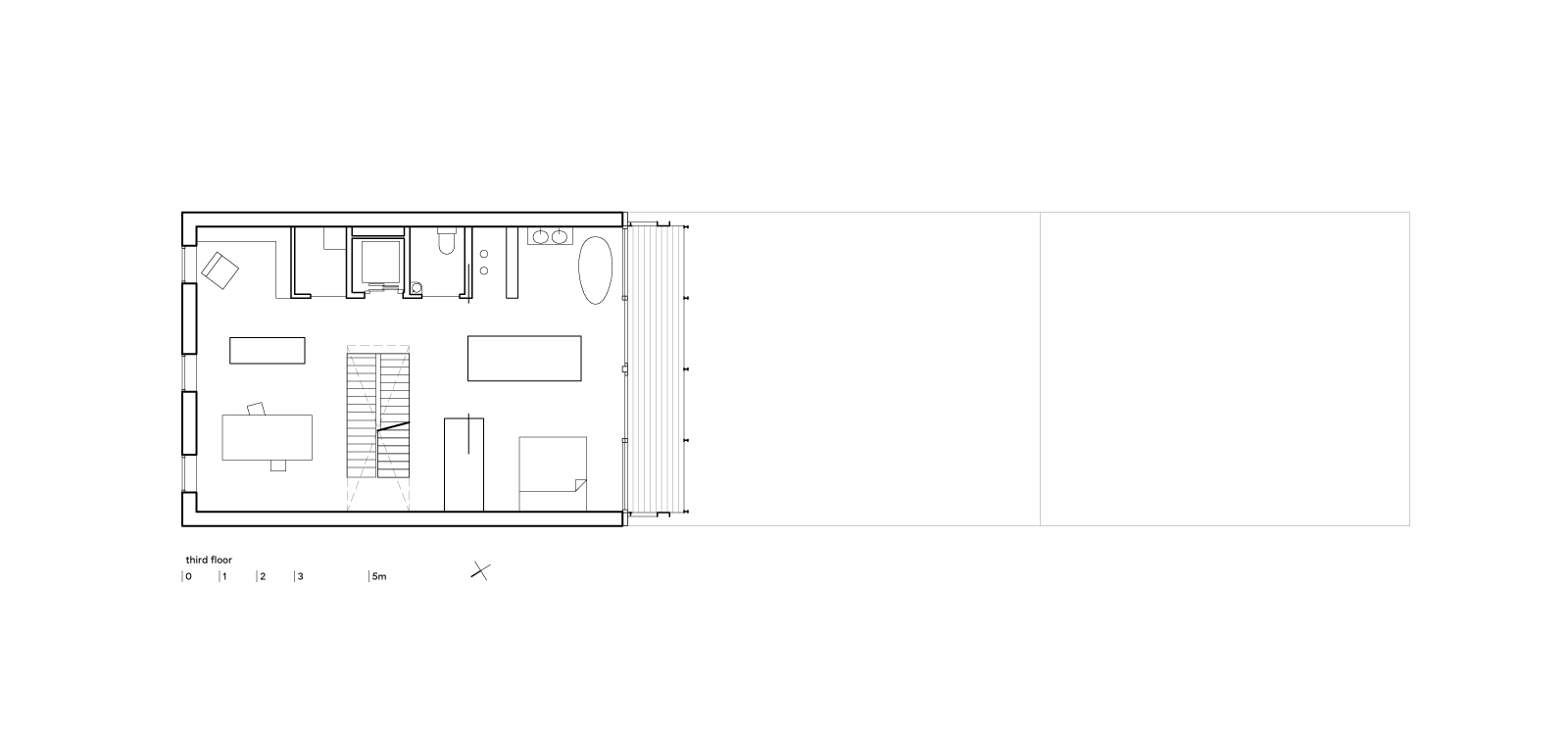 three generation house by BETA plan third floor drawing