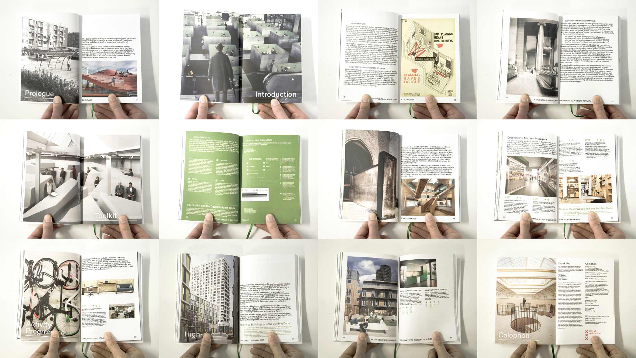 BETA office for architecture and the city Amsterdam Active Design in Buildings book collage